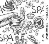 seamless decorative pattern...   Shutterstock .eps vector #495663577