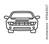 car front view icon  line design | Shutterstock .eps vector #495665017