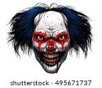hell evil rotten teeth smiling... | Shutterstock . vector #495671737