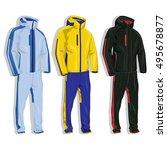 sport suit vector isolated. | Shutterstock .eps vector #495678877