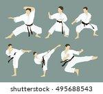 karate icon set | Shutterstock .eps vector #495688543