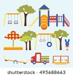 icons set of playground... | Shutterstock .eps vector #495688663