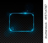 vector blue frame. shining...   Shutterstock .eps vector #495714787