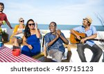 group of people together concept | Shutterstock . vector #495715123