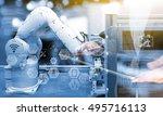 industry4.0 concept .business... | Shutterstock . vector #495716113