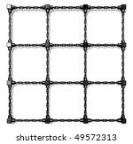 platinum chains frame | Shutterstock . vector #49572313