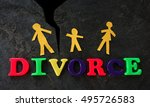 divorce play letters with paper ... | Shutterstock . vector #495726583