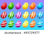 candy items for match 3 game | Shutterstock .eps vector #495729577