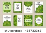 save the date. set of cards... | Shutterstock .eps vector #495733363
