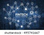 fintech internet concept. text... | Shutterstock . vector #495741667
