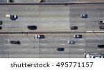 aerial view of highway in... | Shutterstock . vector #495771157
