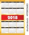 calender 2018 in vector can be... | Shutterstock .eps vector #495803683