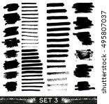 set of different grunge brush... | Shutterstock . vector #495807037