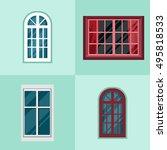 vector illustration of windows... | Shutterstock .eps vector #495818533