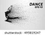 dance of the particles. girl... | Shutterstock .eps vector #495819247