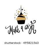 happy birthday cake. make a...   Shutterstock .eps vector #495821563