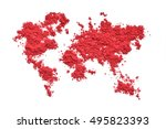 map of world from color... | Shutterstock . vector #495823393