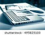 advertising commercial... | Shutterstock . vector #495825103