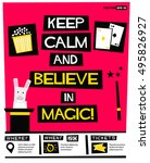 keep calm and believe in magic  ... | Shutterstock .eps vector #495826927