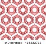 flower abstract seamless... | Shutterstock .eps vector #495833713