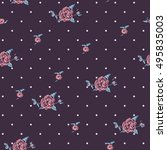 floral seamless pattern with... | Shutterstock .eps vector #495835003