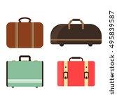 summer time travel bag set.... | Shutterstock .eps vector #495839587