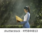 portrait of thai girls with ao... | Shutterstock . vector #495844813