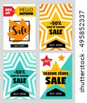 bright eye catching sale... | Shutterstock .eps vector #495852337