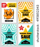 bright eye catching sale... | Shutterstock . vector #495852343