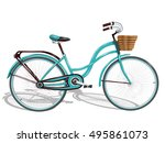 bicycle.vector illustration | Shutterstock .eps vector #495861073