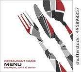 restaurant menu   Shutterstock .eps vector #495898357