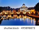 Rome  Italy   Scenic View Of...