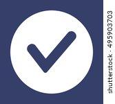 check  icon. flat design. | Shutterstock .eps vector #495903703