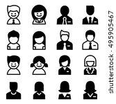 user   avatar  man   woman ... | Shutterstock .eps vector #495905467