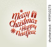 christmas card with falling...   Shutterstock .eps vector #495910273