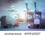 business logistics concept ... | Shutterstock . vector #495910507