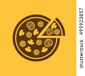 the pizza icon. pizzeria and... | Shutterstock . vector #495923857