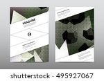 brochure layout template flyer... | Shutterstock .eps vector #495927067