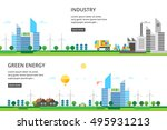 a set of two illustrations  ... | Shutterstock .eps vector #495931213