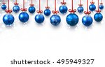 new year banner with blue... | Shutterstock .eps vector #495949327