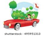 learner driver. | Shutterstock .eps vector #495951313