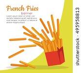 french fries banner. crispy... | Shutterstock .eps vector #495958813