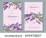 lavender natural cosmetics... | Shutterstock .eps vector #495970837