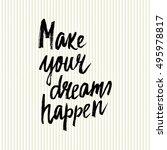 conceptual hand drawn phrase... | Shutterstock .eps vector #495978817