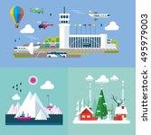 modern flat design conceptual... | Shutterstock .eps vector #495979003