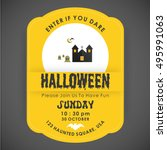 halloween party card template....   Shutterstock .eps vector #495991063