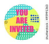 you are invited modern flyer.... | Shutterstock . vector #495991363