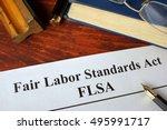 flsa fair labor standards act... | Shutterstock . vector #495991717