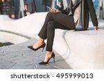 detail of businesswoman... | Shutterstock . vector #495999013