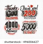 follow vintage banner template. ... | Shutterstock . vector #496006627